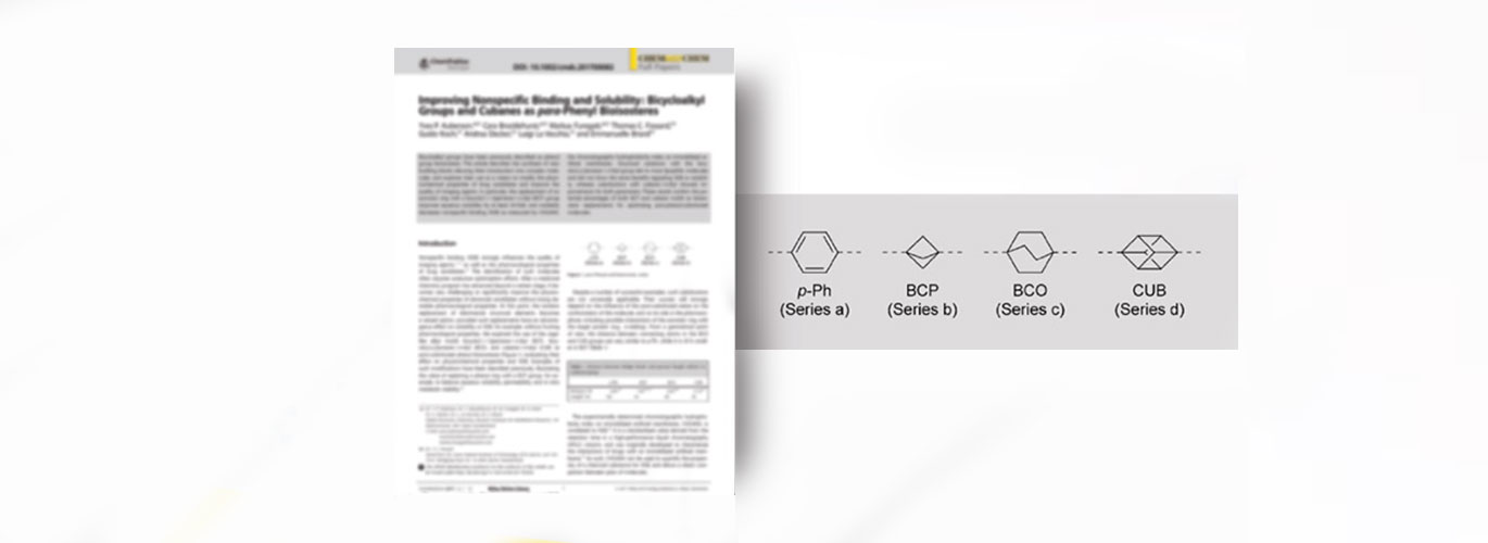 Improving Nonspecific Binding and Solubility: BicycloalkylGroups and Cubanes as para-Phenyl Bioisosteres | ChemMedChem Article - SpiroChem.