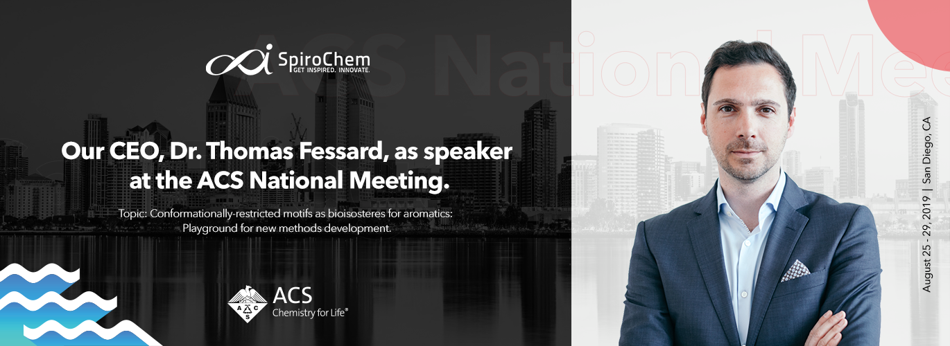 Our CEO, Dr. Thomas Fessard as speaker at the ACS National Meeting & Expo  San Diego