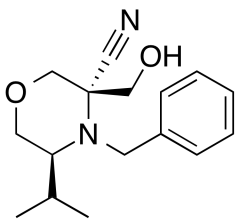 rac-(3R,5S)-4-Benzyl-3-(hydroxymethyl)-5-isopropylmorpholine-3-carbonitrile