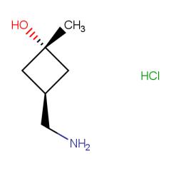 (1r,3r)-3-(aminomethyl)-1-methylcyclobutan-1-ol hydrochloride