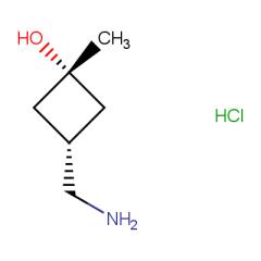 (1s,3s)-3-(aminomethyl)-1-methylcyclobutan-1-ol hydrochloride