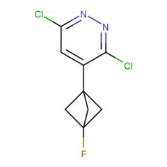 3,6-dichloro-4-(3-fluorobicyclo[1.1.1]pentan-1-yl)pyridazine