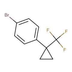 1-bromo-4-(1-(trifluoromethyl)cyclopropyl)benzene